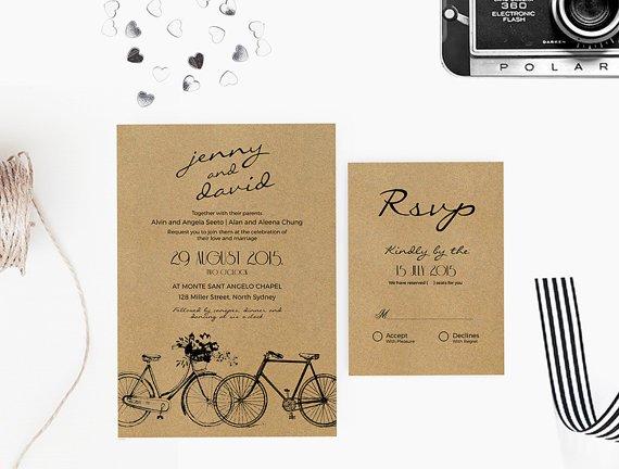 Kraft Paper Wedding Invitation Kits