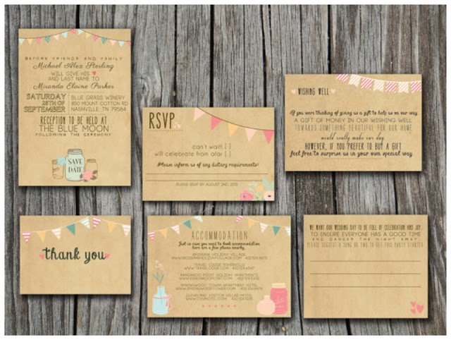 Kraft Wedding Invitations Uk
