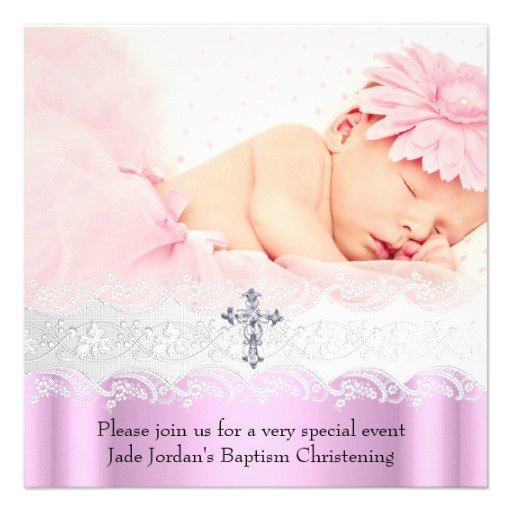 Lace Baptism Invitations