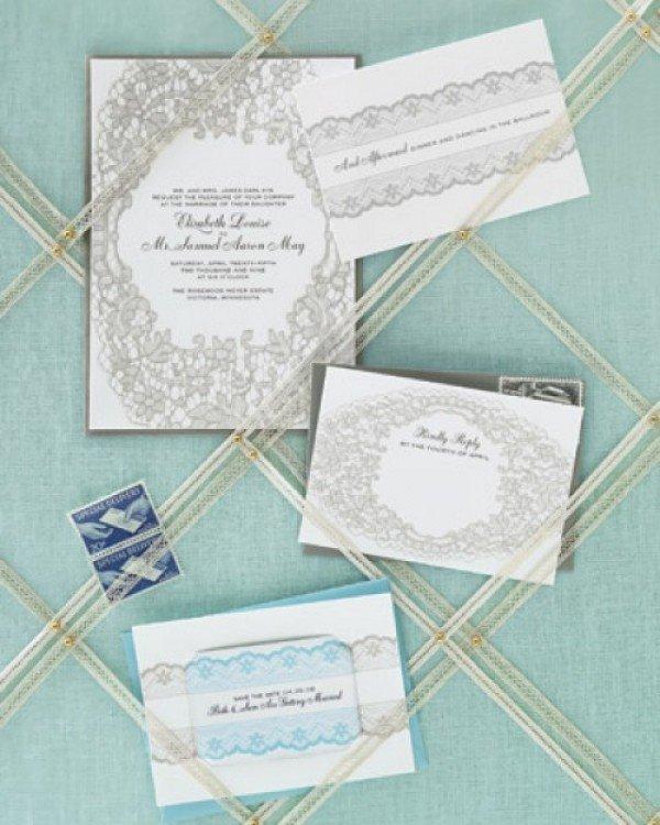 Lace Invitations Martha Stewart