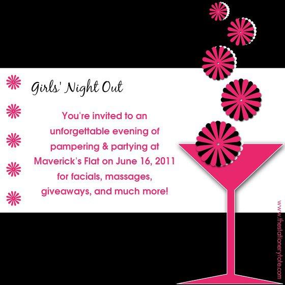 Ladies Night Invitation Templates