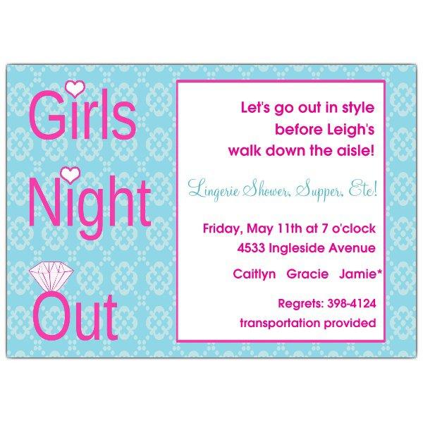 Ladies Night Out Invitation Templates