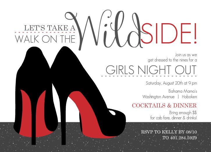Ladies Night Out Invitation Templates Free