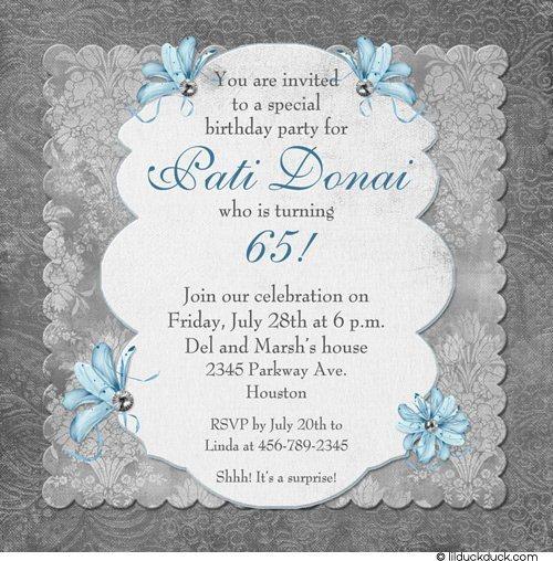 Lady Vintage Birthday Invitations