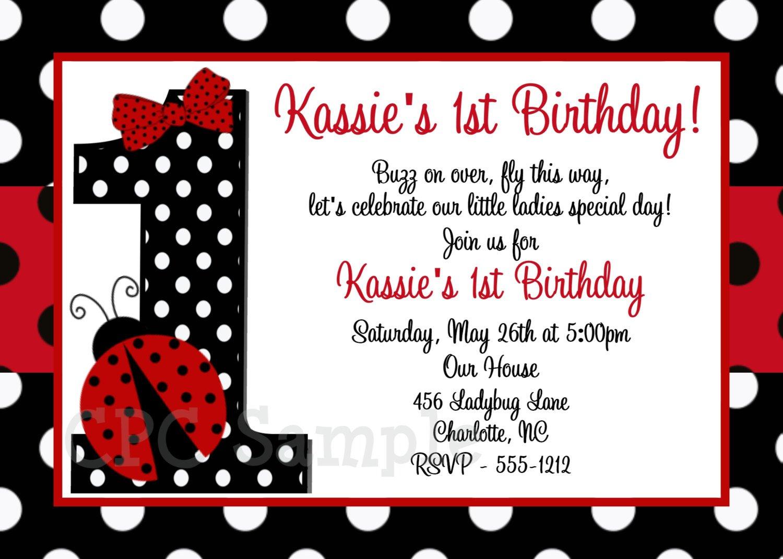 First birthday invitation wording ladybug first birthday invitation wording 1500 x 1071 stopboris Gallery