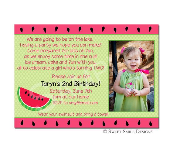 Lake Party Invitation Wording