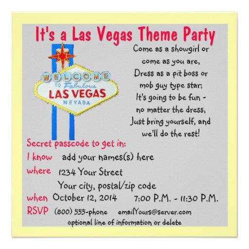 Las Vegas Invitation Template Free