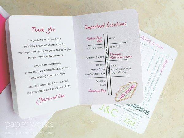Las Vegas Passport Wedding Invitation