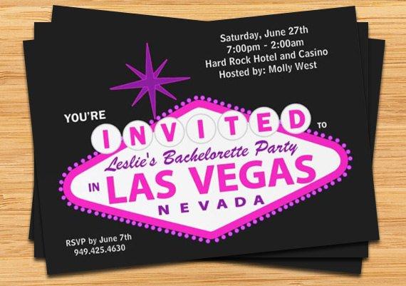Las Vegas Wedding Invitation Templates