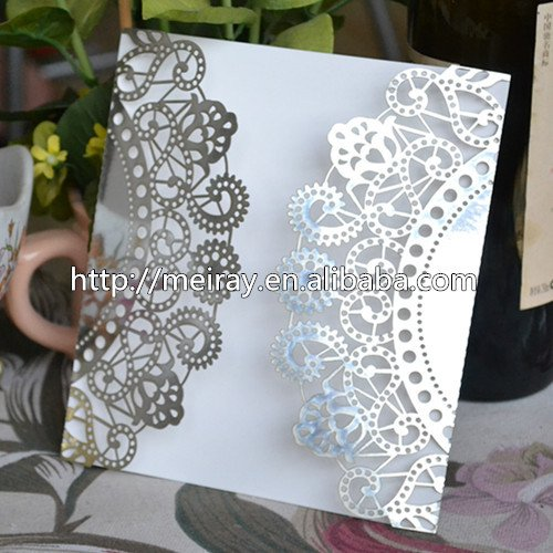 Laser Cut Wedding Invitation Sleeves