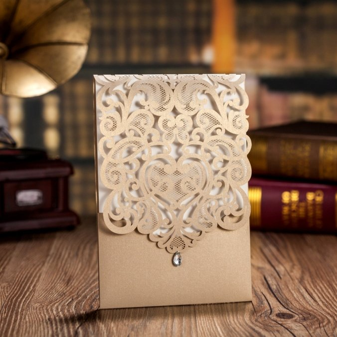Laser Cut Wedding Invitations Wholesale