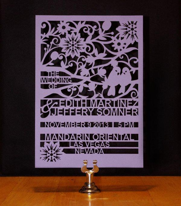 Laser Print Wedding Invitations