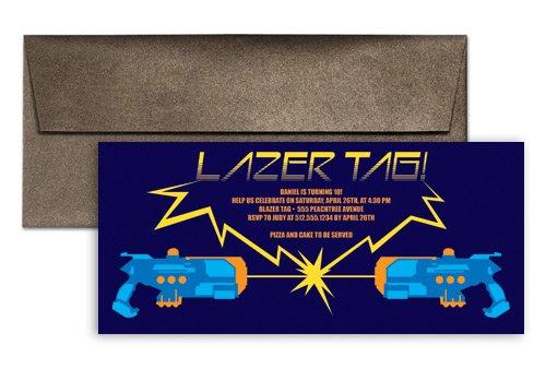 Laser Tag Birthday Invitation Wording