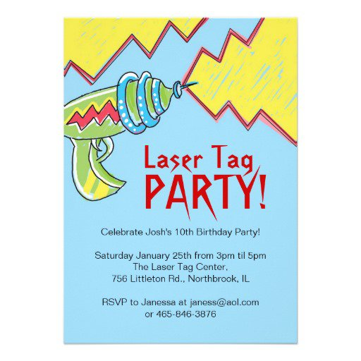 Laser Tag Invitations Free