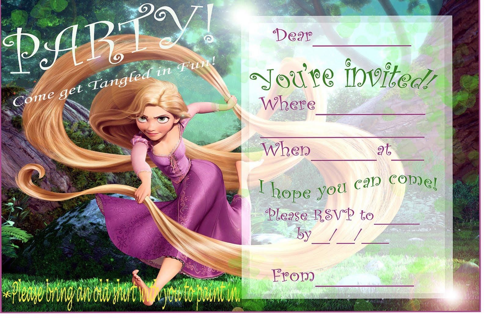 Tag Party Invitation Blank Templates
