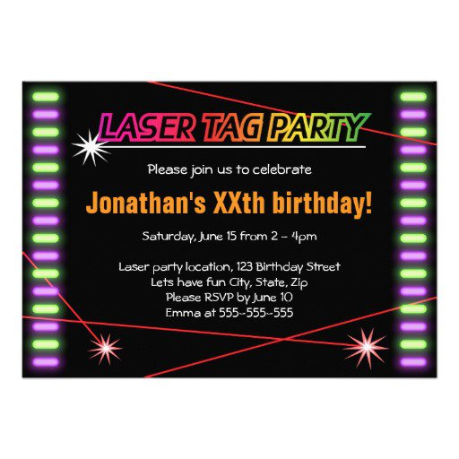 Laser Tag Party Invitation Templates – Laser Tag Party Invitation