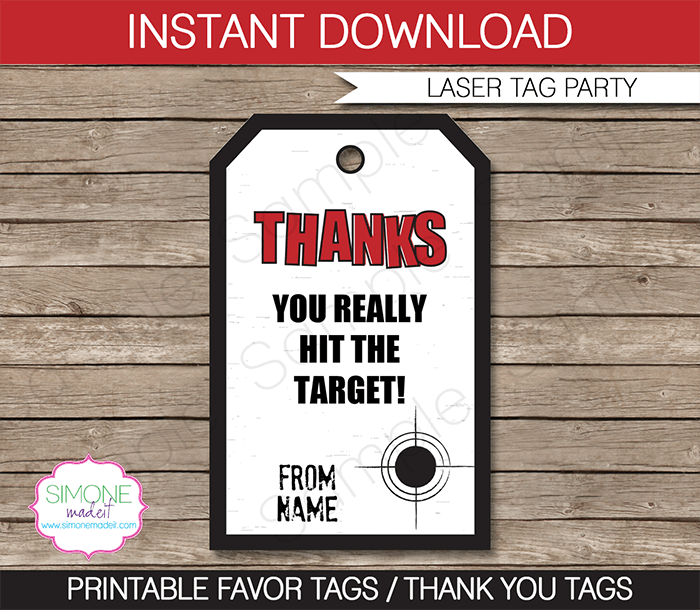 Laser Tag Party Invitation Templates