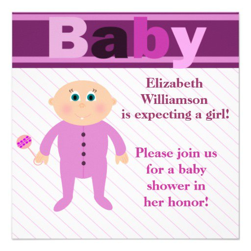 Lavender Invitations Baby Shower