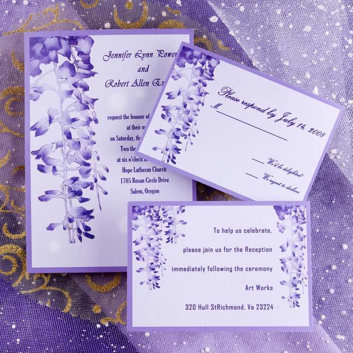 Lavender Invitations Wedding