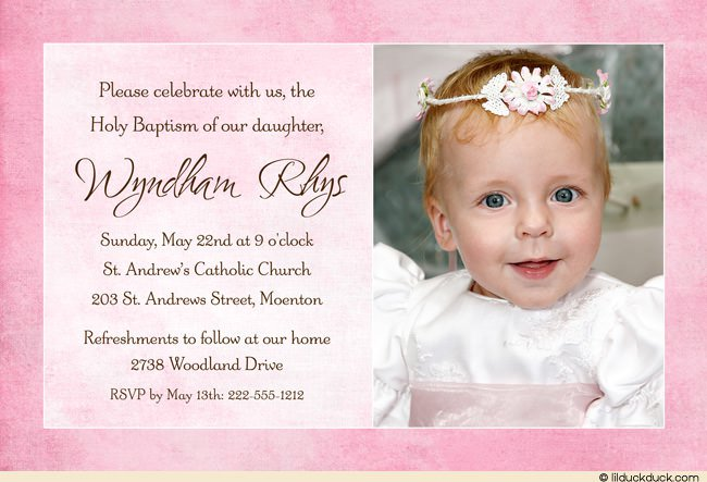 Layout Baptism Invitations