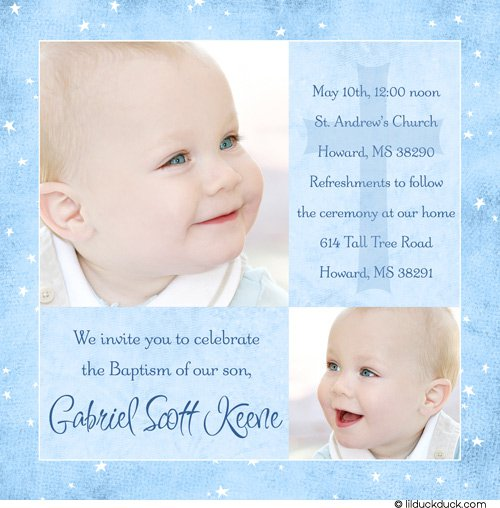 Layout Christening Invitations