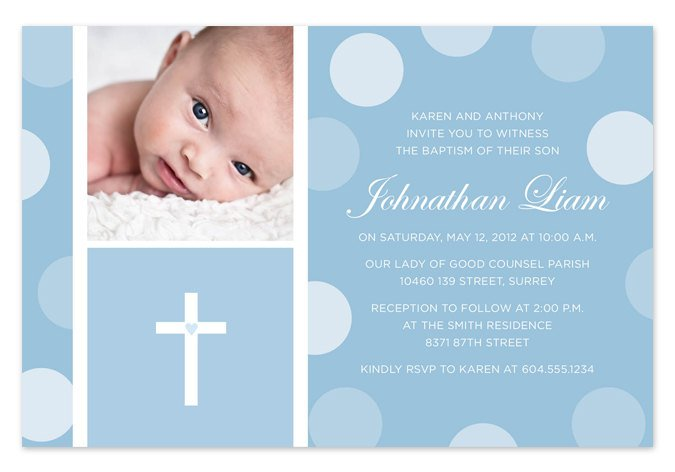 Layout Design For Baptism Invitations