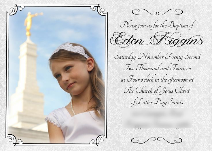 Lds Baptism Announcement Template Free