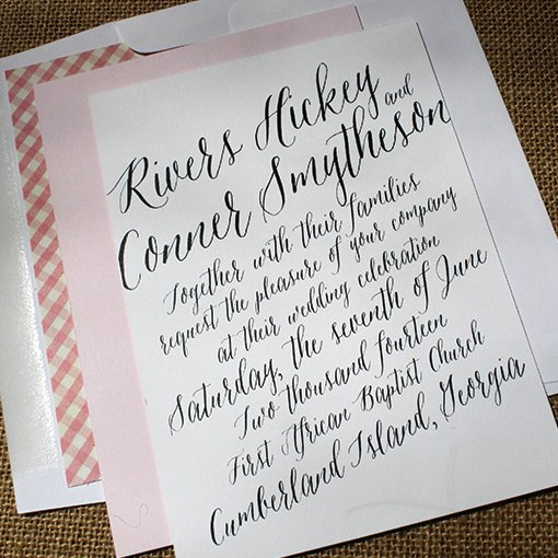 Learning Calligraphy For Wedding Invitations