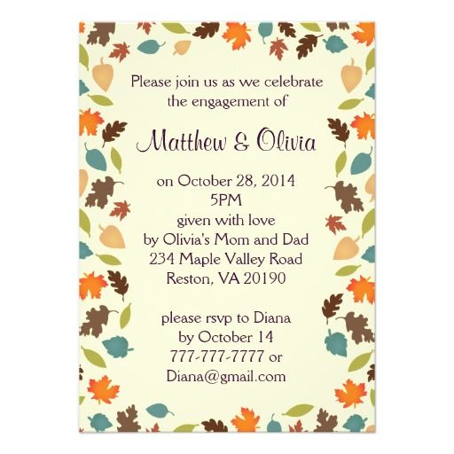 Leaves Party Invitations