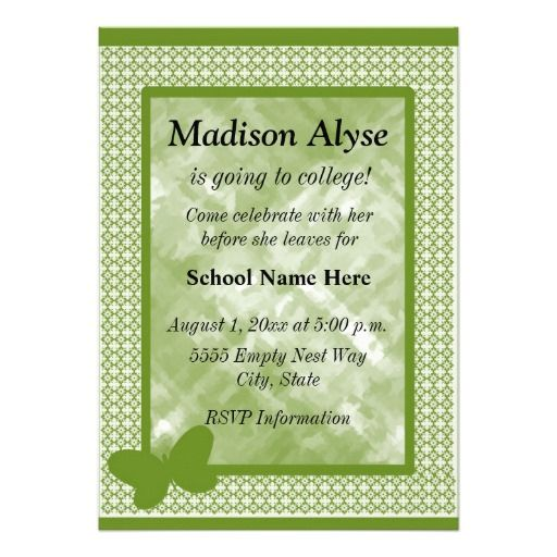 Leaving For College Party Invitation