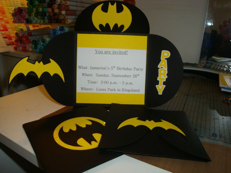 Lego Batman Birthday Invitation Ideas
