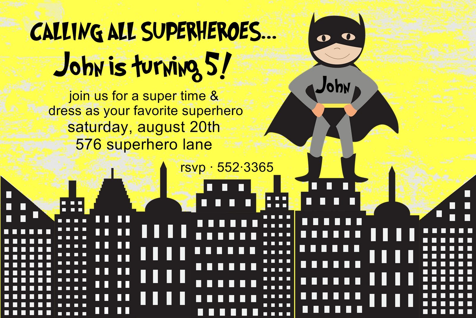 Batman Party Invitations Free Printable is great invitations ideas