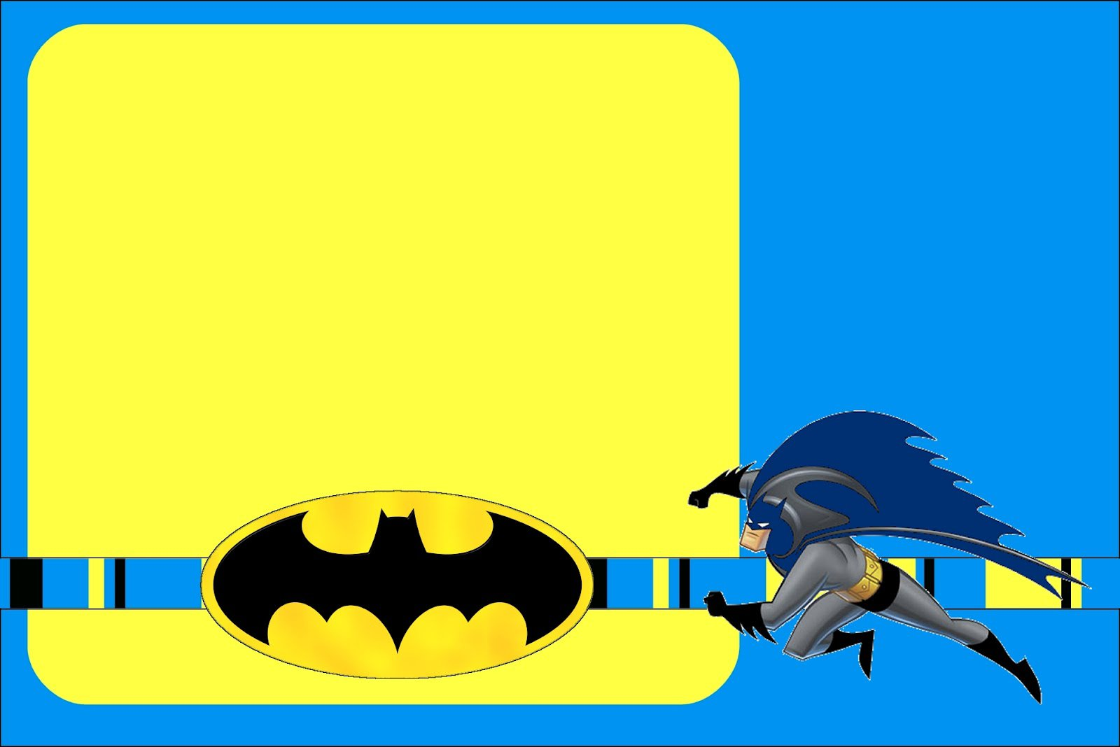 Batman Party Invitations Printable
