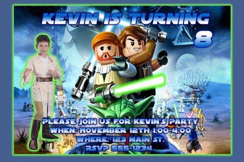 Lego Birthday Party Personalized Invitations