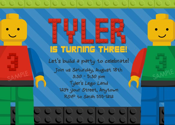 Lego Party Invitations Free Download