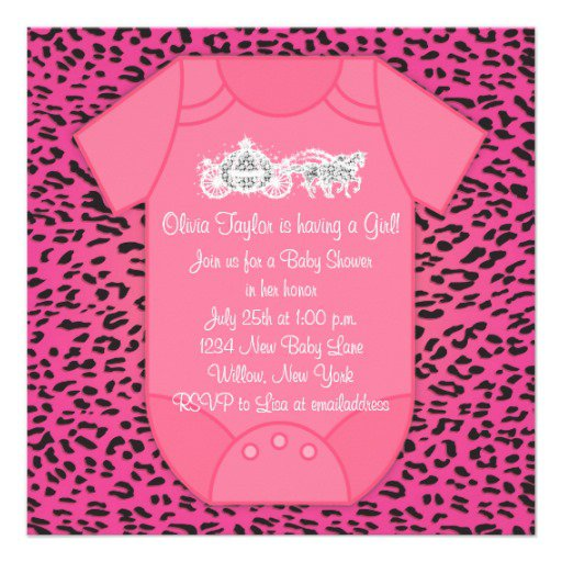 Leopard Baby Shower Invitations