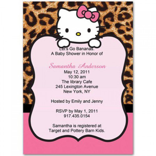 Leopard Baby Shower Invitations Cheap