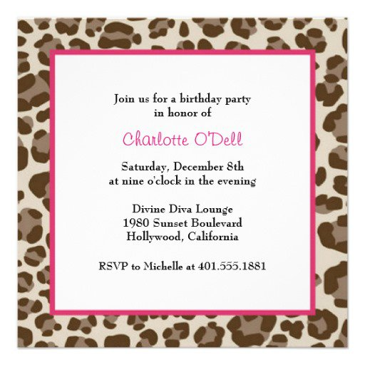 Leopard Print Party Invitations Uk