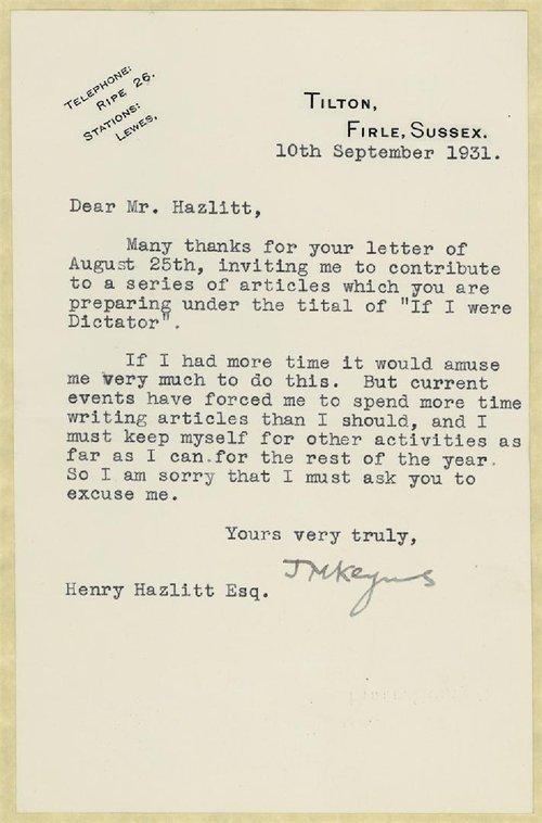 Letter Declining An Invitation