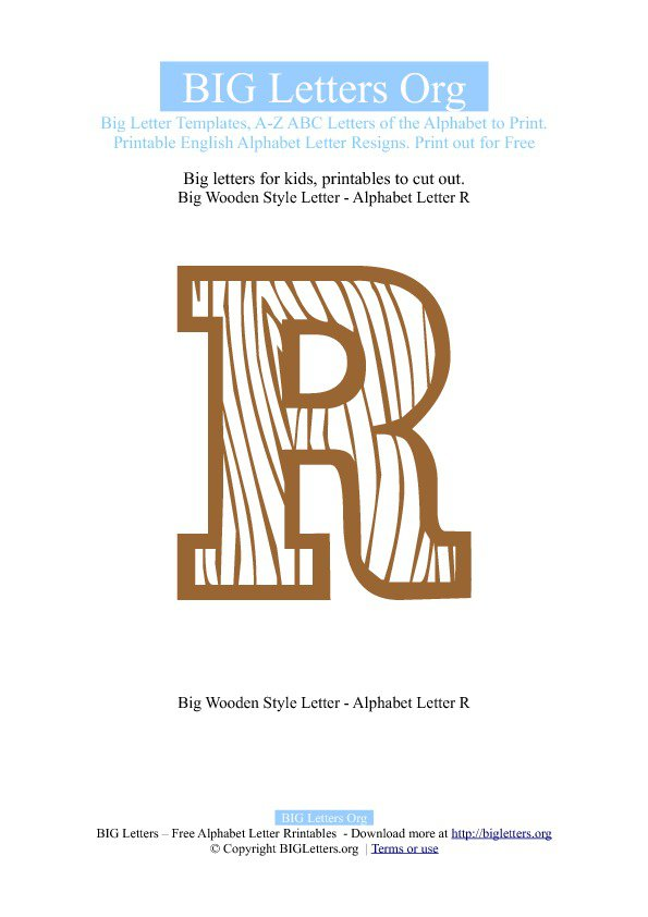 Letter R Templates Printable