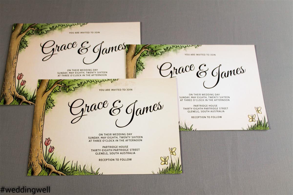 Letterpress Wedding Invitations Gold Coast
