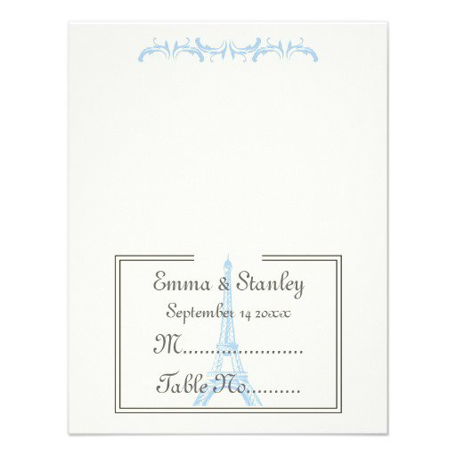 Light Blue Wedding Invitations Uk