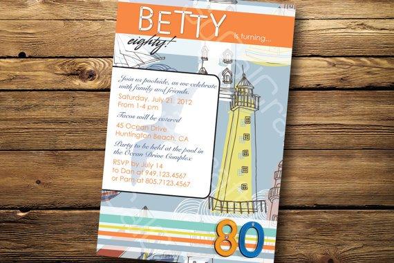 Lighthouse Invitation Card Background