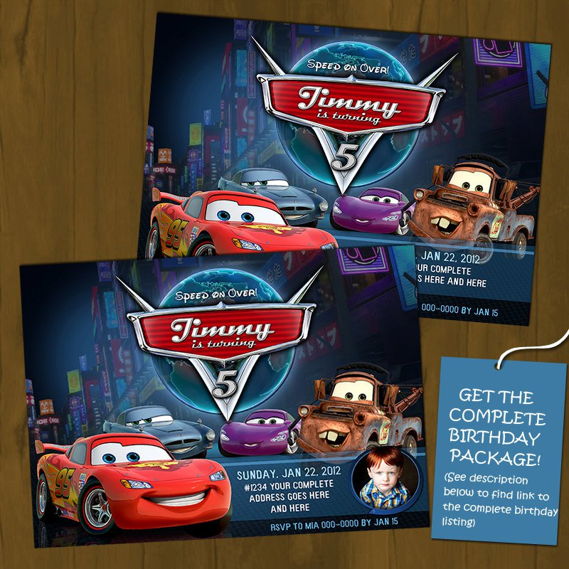 Lightning Mcqueen Birthday Invitations Printable