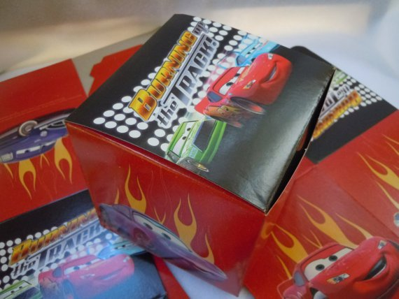 Lightning Mcqueen Party Favor Boxes