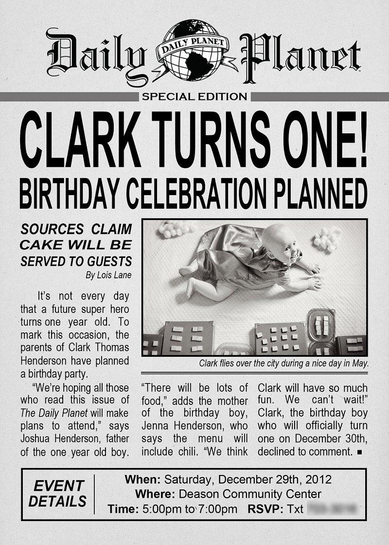 Like Newspaper Invitations