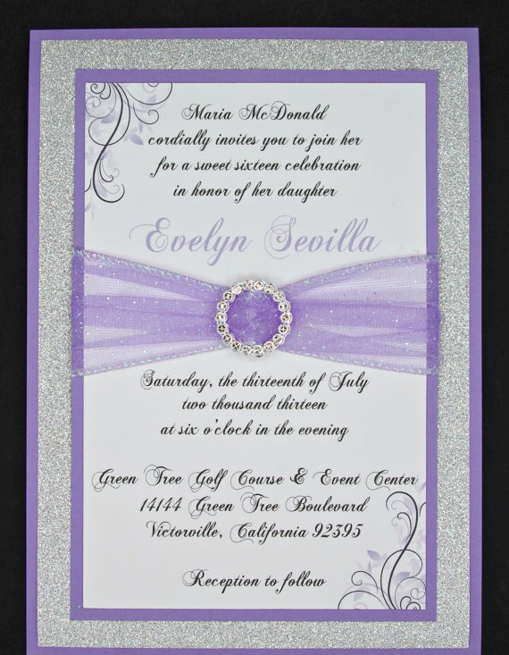 Lilac Wedding Invitation Templates