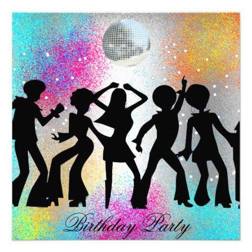 Line Dancing Birthday Invitations
