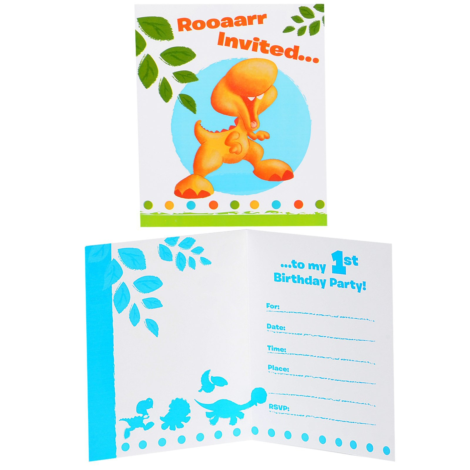 Little Dino Birthday Invitations
