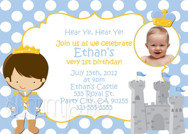 Little Prince Birthday Invitations